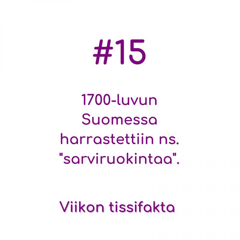 """#15 1700-luvun Suomessa harrastettiin ns. """"sarviruokintaa"""". Viikon tissifakta"""