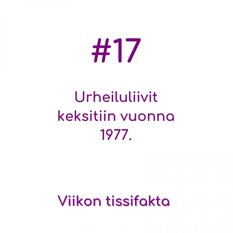 #17 Urheiluliivit keksittiin vuonna 1977. Viikon tissifakta.